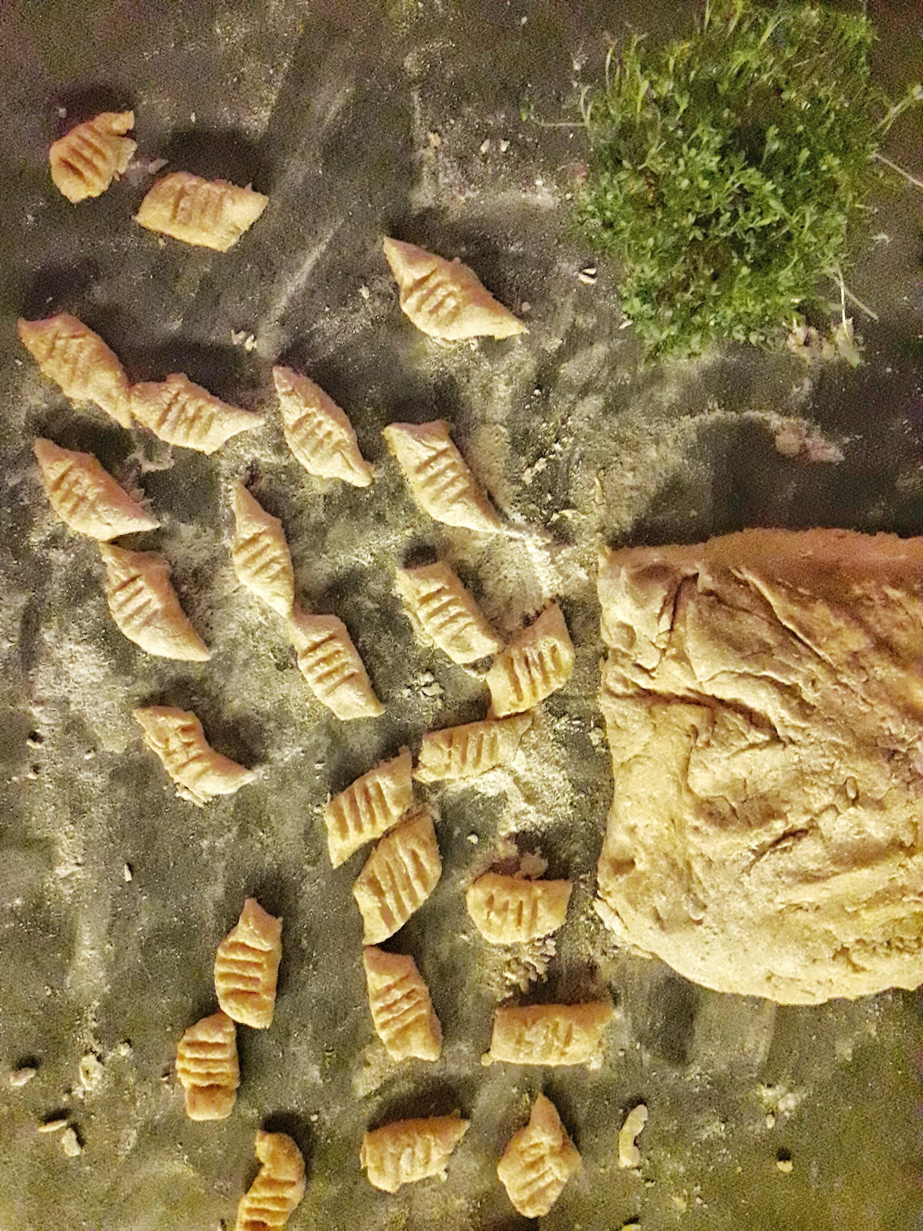 Ziemniaczane kopytka z pieczoną dynią