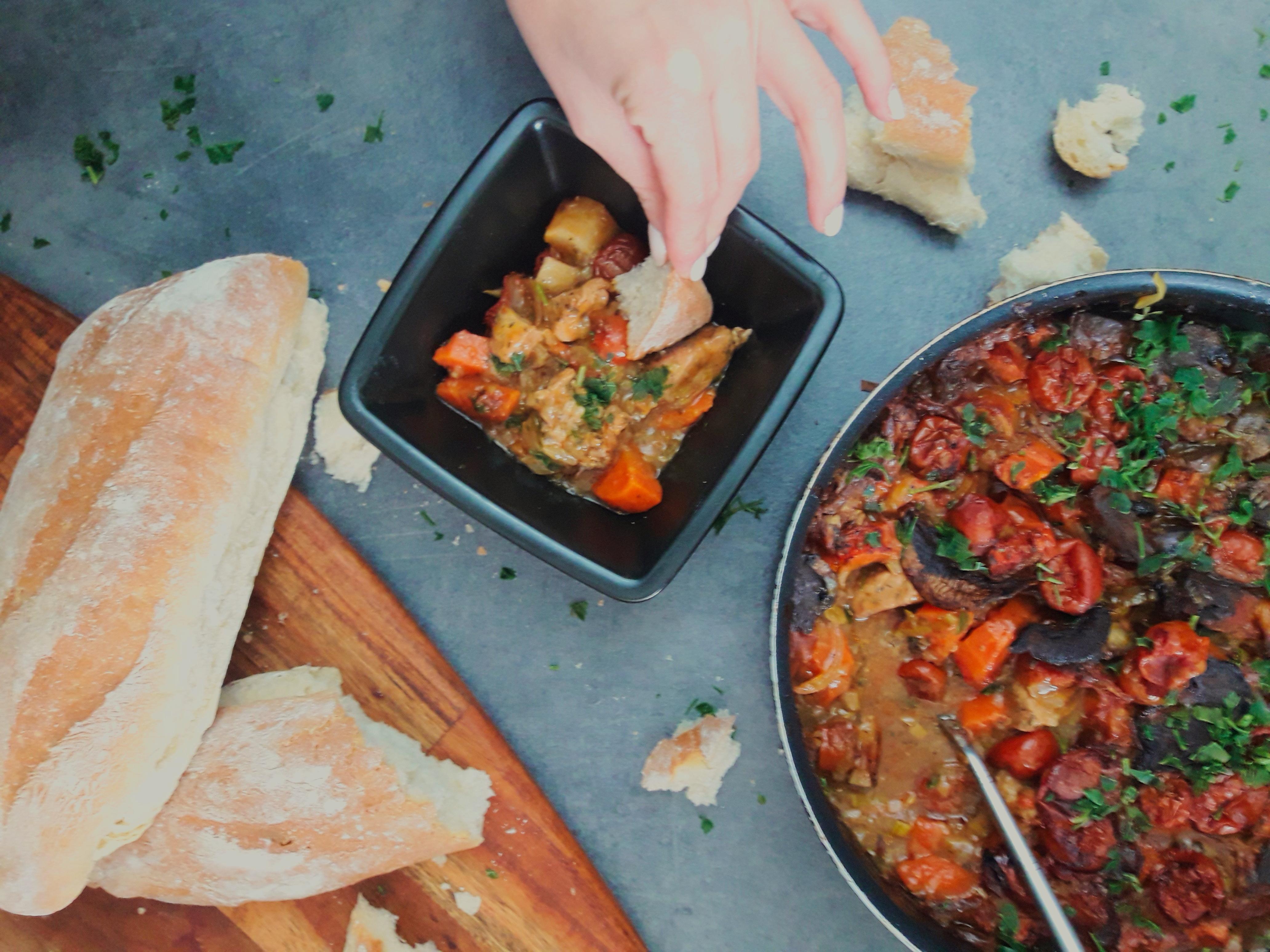 Porc Bourguingnon, czyli pieczony gulasz wieprzowy z pomidorami